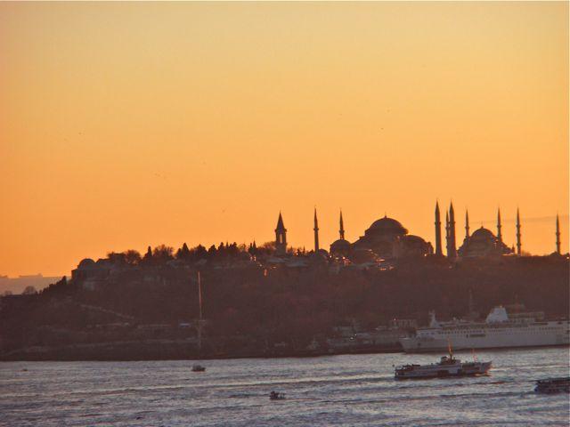 Estreito de Bósforo na Turquia
