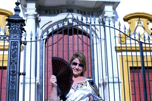 Em Sevilha, o calor era tão intenso que a única coisa que eu queria comprar era um leque