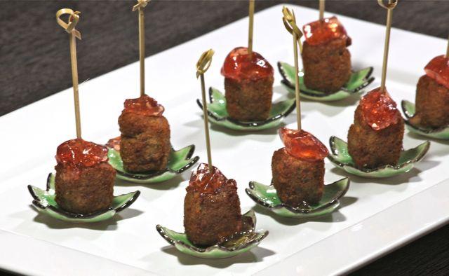 Croquettes de riz à la viande de Canard Confit de Kir Royal