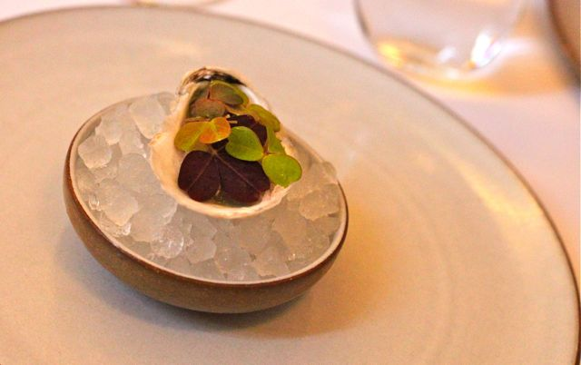 Oyster Glazed with Wood Sorrel and Buckwheat