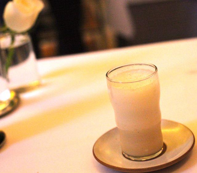 Malt Egg Cream with Vanilla and Seltzer