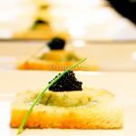 Flan de Couve flor com Caviar Molho de Caviar
