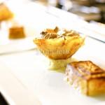 Soufle de goiabada em Cestinha de especiarias Caixinha surpresa com goiabada, copiado da Aline - Restaurante Chez Aline Sorvete de Queijo