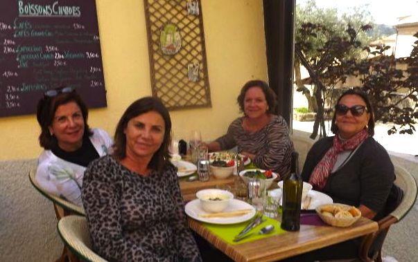 Claudia, eu, Yolandinha e Marisa