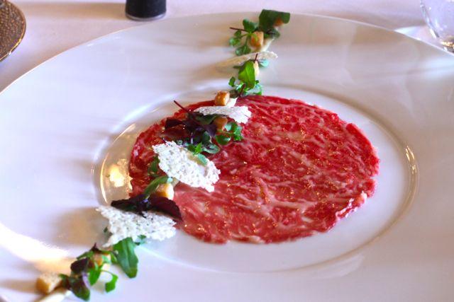 Carpaccio de Kobe beef
