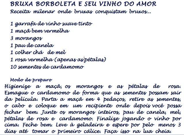 bruxa receita do vinho do amor
