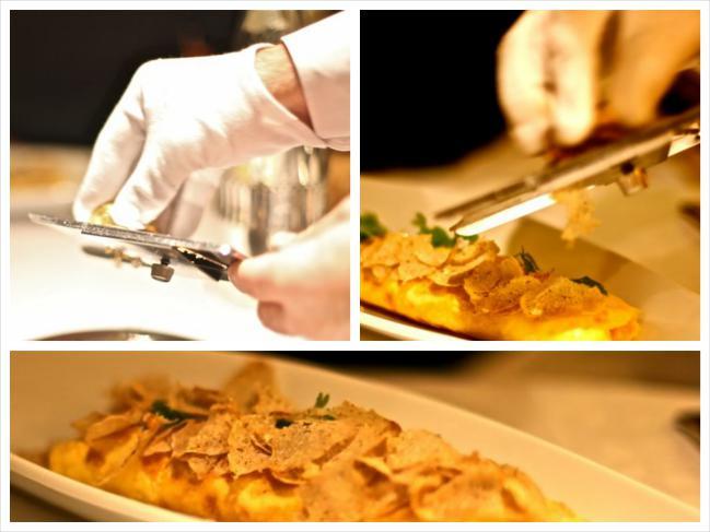 Omelete com trufas