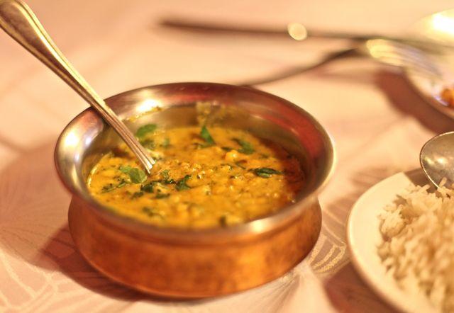Lentilha e arroz basmati