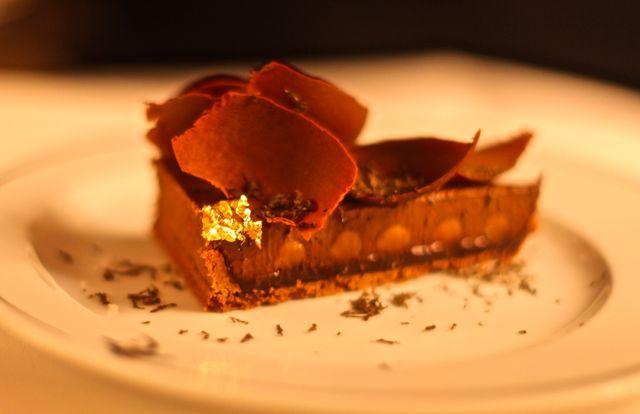 Tarte chocolat / truffe noire Torta de chocolate / trufa negra