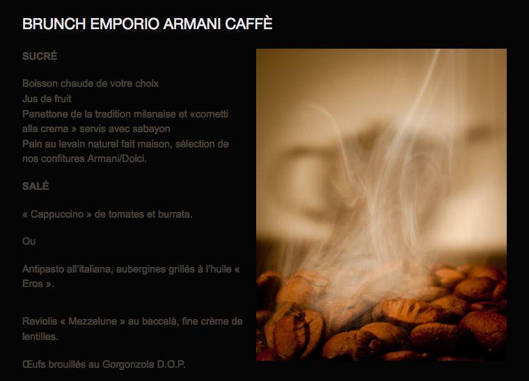 brunch emporio armani