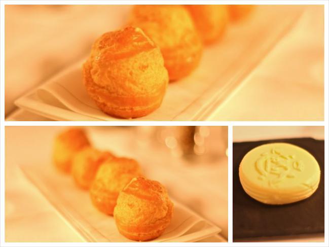Gougeres e manteiga