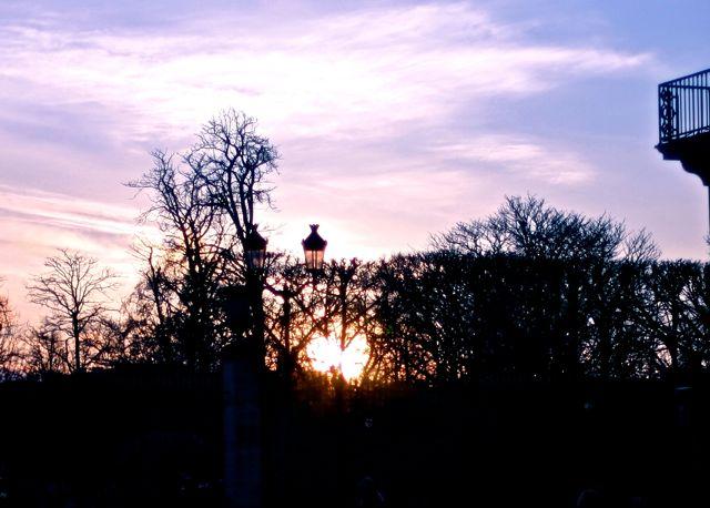 Jardin de Tulleries em frente ao Hotel Le Meurice