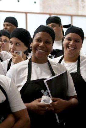 Jovens aspirantes a chefs