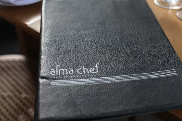 alma chef menu