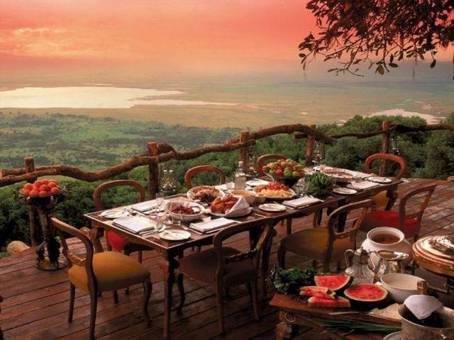 24. Crater Lodge (Tanzânia) Fonte: craterlodge.com