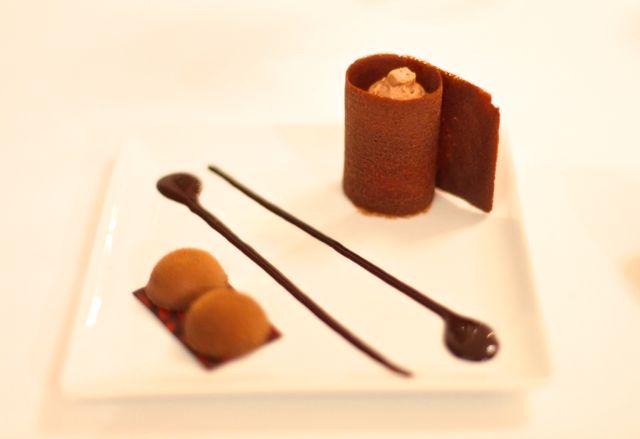 Pré Sobremesa Mousse de choclate e creme brülée (maluco) de chocolate