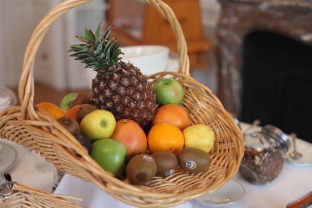 Em compensação frutas