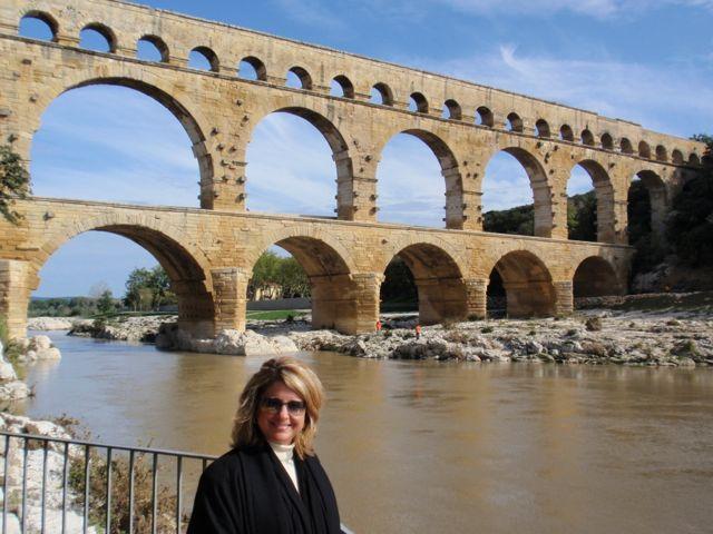 Pont du Gard vista do restaurante ao lado