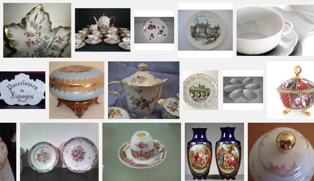 Porcelanas de Limoges