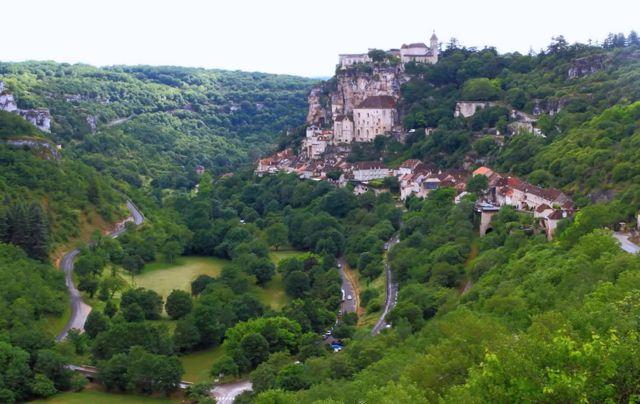 Rocamadour vista de longe