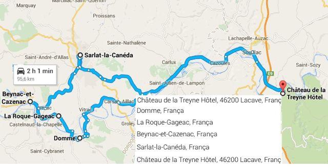 De Chateau de la Treyne a Domme, La Roque Gageac, Beynac, sarlat e de novo, Chateau de la Treyne