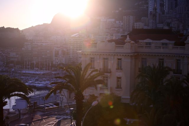 Monaco por do sol