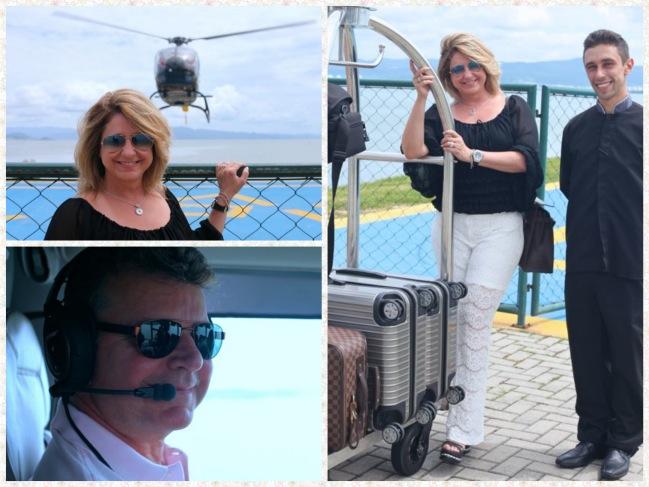 Marcamos para pegar o helicoptero