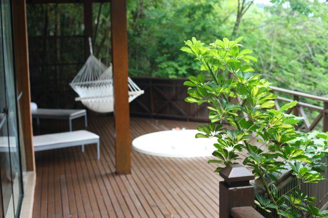 Da sauna para a varanda