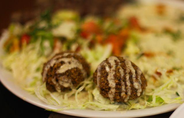 Falafel Croquetes de grão de bico com ervas finas