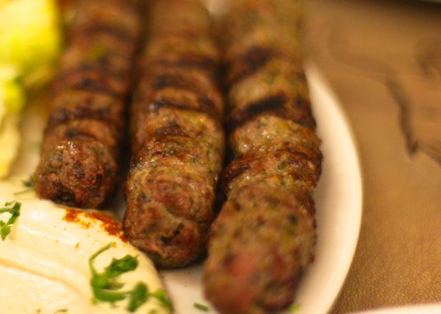 Kafta Pintxos de carne de vitela picada
