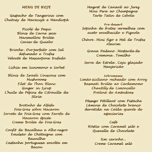 Mazo menu