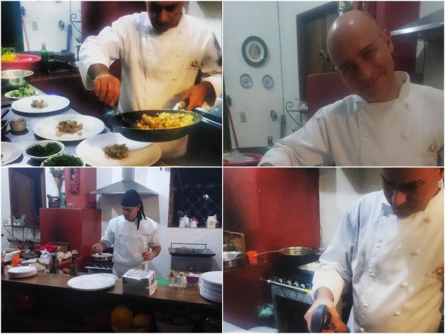 Chefs convidados, dentre eles, Rodrigo Barcelos