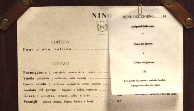 NINO menu 1