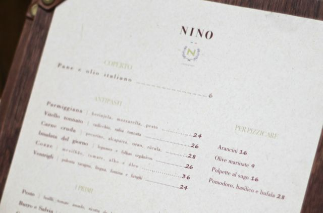 NINO parte do menu