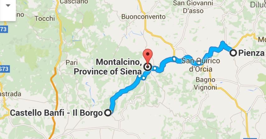 Saímos do Castello Banfi fomos pra Pienza e depois voltamos por Montalcino