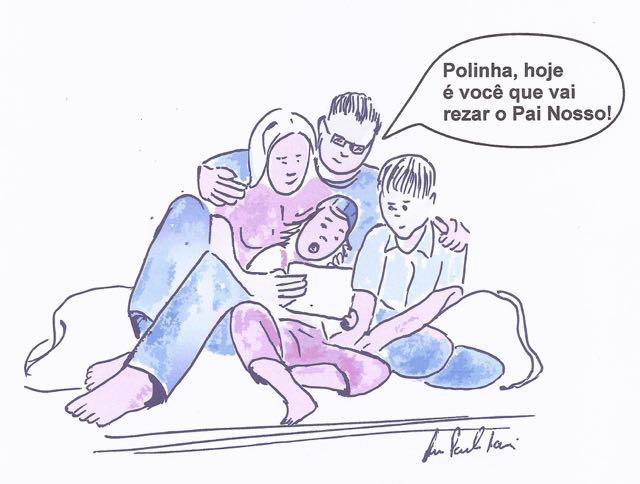polinha e familia