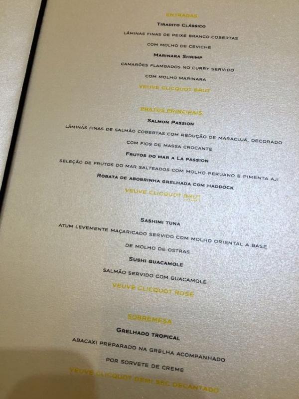 menu veuve