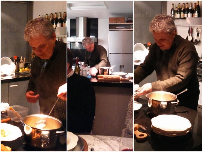 vittorio na cozinha brodo
