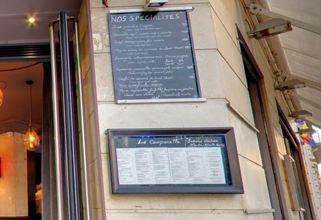 """Só descobri desta vez, são ótimas, super baratas e são """"Sevice continue"""", ou seja, não fecham às 13.30 como quase todos os restaurantes franceses, que matam a gente de raiva."""