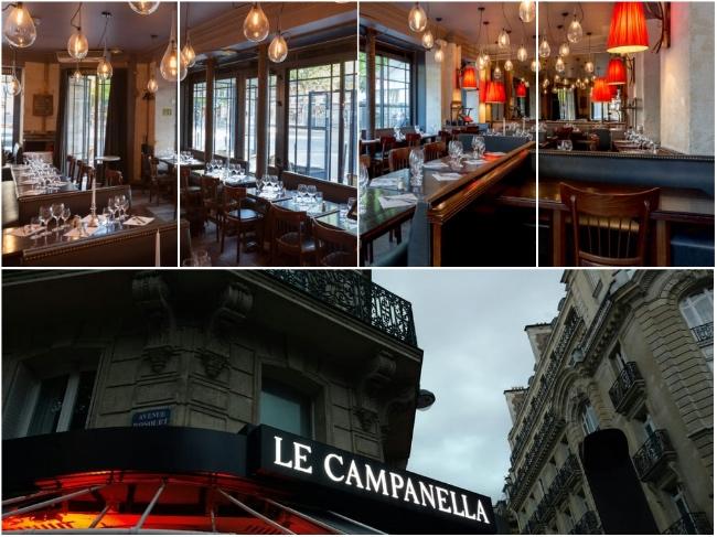 ... saímos para comer alguma coisa ali pertinho. Entramos na Le Campanella, sem reserva (ai que delícia!!!). 18, avenue Bosquet, Paris 7th