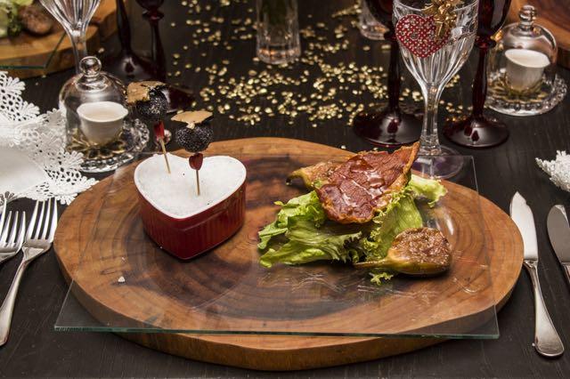 Salada com Chips de Parma com Figo caramelado