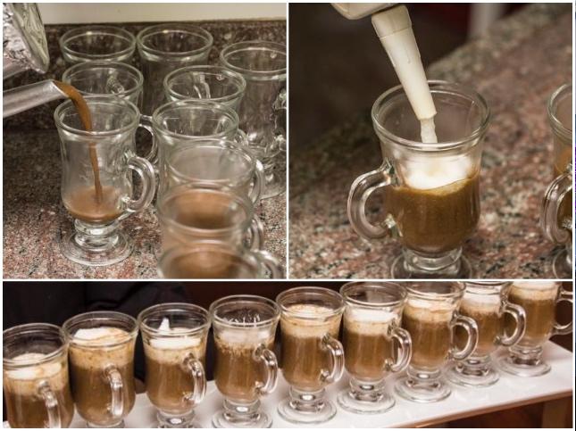 Cappuccino de cogumelos com espuma de parmesão