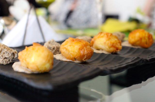 Ovo mollet com capa de Philo em Espuma de Champignon trufado Esponja de Champignon trufado
